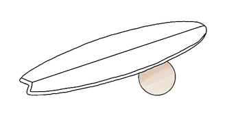 Balance Board mit Kugel